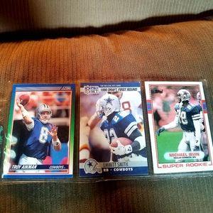 Lot of 3 Dallas cowboys cards